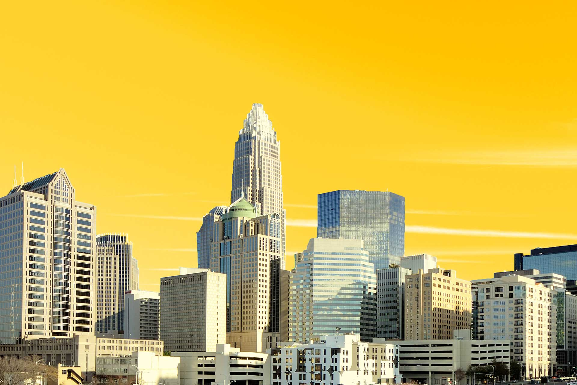 IMCG Creative CLT skyline website design