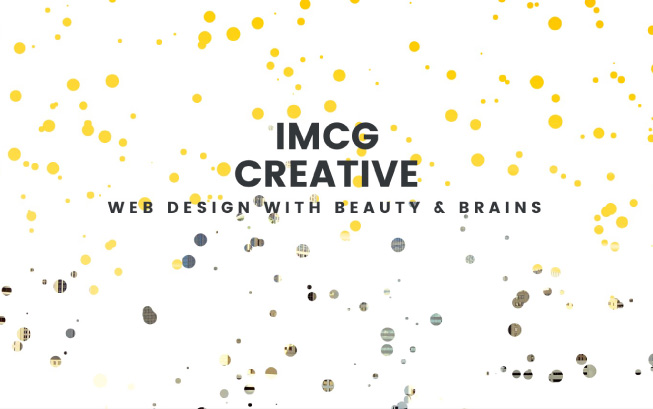 IMCG creative particles website design charlotte